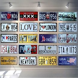 license plate europe NZ - AMSTERDAM license plate Metal Painting Retro Signs Bar Coffee Home Art Living Room Wall Decoration 30X15CM B-74