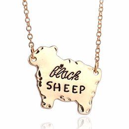 "$enCountryForm.capitalKeyWord NZ - Gold Silver Tone ""Black Sheep"" Cute Sheep Pendant Necklace Family women Necklace Animal fashion Jewelry necklaces"