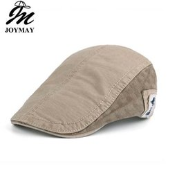 1c723609cec JOYMAY New Summer Cotton Berets Caps For Men Casual Peaked Caps Solid color  with label Berets Hats Casquette Cap Y007