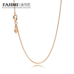 $enCountryForm.capitalKeyWord Australia - FAHMI 2017 fashion pink gold necklace color brand 7 MM Cuba man chain hip-hop pink gold plated jewelry wholesale 580412