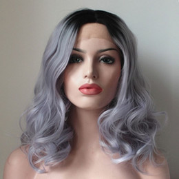 Light Gray Hair Color 2018   Ombre Human Hair Wig Body Wave Silver Gray Hair  Full