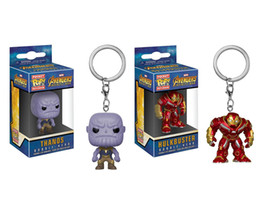 hulkbuster toys Canada - Funko Pocket Pop The Avengers Thanos Hulkbuster Bobble Heard Vinyl Figure Keyring Toy Gift Good Quality