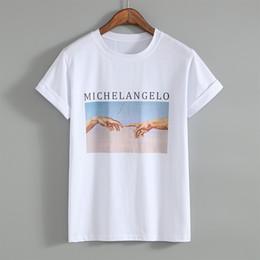 58fb3e08d Ulzzang t shirts online shopping - Michelangelo Cappella Sistina T Shirt  Harajuku Ulzzang Tumblr Women T