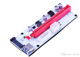 Pci Express 16x Riser Card Australia - 60cm PCI-E Express 1X To 16X Extender Riser Card Adapter USB 3.0 LED SATA 6 Pin Power Cable DC-DC For Bitcoin Miner