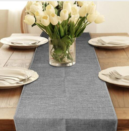 Rustic table runners wholesale australia new featured rustic table runner burlap natural jute imitated linen rustic decor wedding table decoration accessories khaki gray party tableclothaei 124 au junglespirit Images