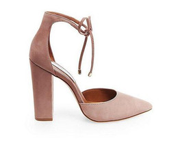 21e66ae5906 Block heel shoes sexy online shopping - Summer Style Faux Suede Lace Up Block  Heels Shoes
