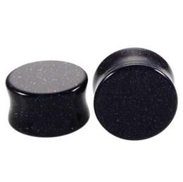 Ear strEtchEr Earrings online shopping - 2pcs Stone Ear Plugs and Tunnels Ear Piercings Earring Gauges Helix Piercing Ear Stretcher Plugs Body Piercings Jewelry