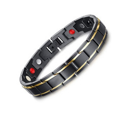 Hematite Jewelry Sets NZ - Drop shipping brand new top quality men's 316L stainless steel bracelet magnets bracelets hematite fashion jewelry factory supplier 009