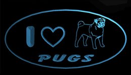 $enCountryForm.capitalKeyWord Australia - LS1774-b-I-Love-Pug-Dog-Pet-Shop-Neon-Light-Sign Decor Free Shipping Dropshipping Wholesale 8 colors to choose