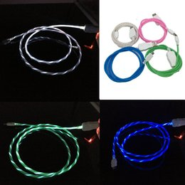$enCountryForm.capitalKeyWord Australia - LED Flowing Visible Flashing Cable Micro USB Data Sync Charging Cord 1M 3FT Light UP Type C Cable Wire For Samsung S8 S9 plus HTC Universal