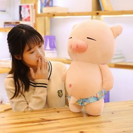 Cute Stuffed Animal Pig Australia - Cute Pig Plush Toy Soft Stuffed Doll Plush Animal Toy Fun Pillow Sexy Dolls Children Cartoon Girl Christmas Birthday Gift