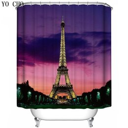 big ben paintings 2019 - YO CHO 3D Hand painted Lighthouse Eiffel Tower Big Ben Shower Curtain Polyester Fabric Bath Curtains with Hooks for Home