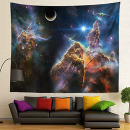 $enCountryForm.capitalKeyWord NZ - Galaxy Tree Picture Hot Selling Sublimation Printed High Resolution Custom Size 130X150cm 400g Wall Tapestry for Home Decoration