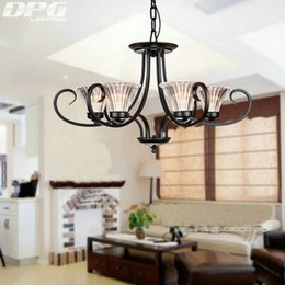 $enCountryForm.capitalKeyWord NZ - Modern Glass Shade Iron Chandelier Lighting Fixtures luminaria lustre Ceiling Chandeliers E14 Light for Bedroom living room Lamp