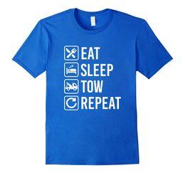 39b6f57f1 Tow Truck Eat Sleep Repeat T Shirt 2018 Summer New Brand T Shirt Men Hip  Hop Men T Shirts Casual Fitness Letter Top Tee