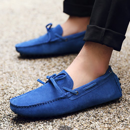 Slip 48 Canada - 2018Men's Penny Loafers Moccasin Driving Shoes Slip On Flats Boat Shoes Size 38-48 AK2081
