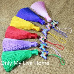 $enCountryForm.capitalKeyWord NZ - Cloisonne Butterfly Tassel Hand Fan Charm Handmade Chinese knot Traditional Craft Folding Fan Pendant Accessories DIY Bag Car Decoration Han