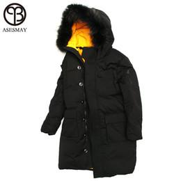 2d1697092ef1 Asesmay luxury brand men down jacket winter duck down jackets men parka  thick warm long wellensteyn jacket with natural fur