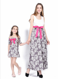 $enCountryForm.capitalKeyWord NZ - 2018 New Mom Baby Loose Long Dress Mommy And Me Family Matching Mother Daughter Dresses Clothes Mom And Daughter Dress Outfit