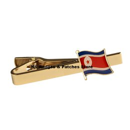 Chinese  North Korea National Flag Tie Clip manufacturers