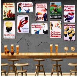 My Goodness Mi Guinness Metal Pintura Retro Cartel de chapa Bar de pared Home Craft Art Decor Cuadros 30X20CM DU-1001 en venta