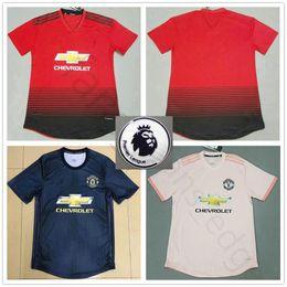 2019 Player Version Manchester United Soccer Jerseys POGBA ALEXIS LUKAKU  RASHFORD LINGARD FRED Custom Home Away Man 18 19 Football Shirts 2374d568f
