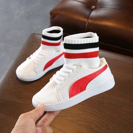 6c755d3c6e67 Boys Sport Shoes Kids High Top Sneakers Girls Trainers Breathable Running Shoes  Spring School Cartoon Casual Sneakers Hot products
