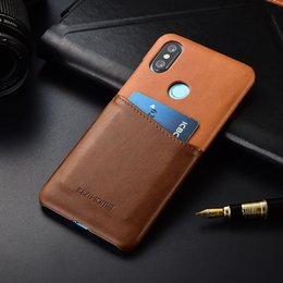 Wholesale for Xiaomi Mi A2 miA2 KEZiHOME Luxury Business Genuine Leather Hard Back Cover For Xiaomi Mi X mi6X with Card Pocket funda