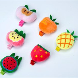 $enCountryForm.capitalKeyWord UK - Pet Cats And Dog Bow Hairpin Cartoon Fruit Series Hair Clip Pet Grooming Accessories Clips