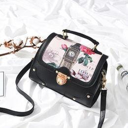 Boston Tote Bag Free Shipping Canada - New women handbag design Fashion landscape printing lady shoulder bag PU leather high-capacity totes free shipping