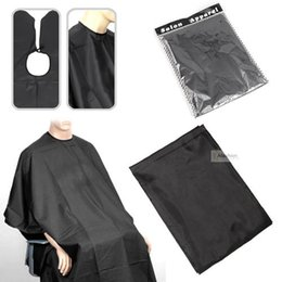 Wholesale 1pc 140*100cm black Barber Cape Convenient Fold Hair Cut Hairdressing Gown Cloth styling tools hairdresser supplies Waterproof