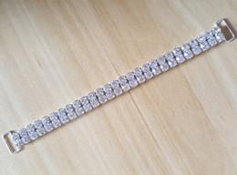 Vente en gros 10 pcs 2ROWS 16.5cm gros cristal strass bikini connecteurs boucle chaîne en métal pour la natation porter bikini décoration