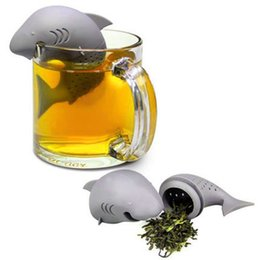 $enCountryForm.capitalKeyWord UK - Tea Infuser Creative Cute Animal Eco-friendly Silicone Teas Infuser Strainer Shark Tea Steeper Lovers Gift