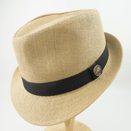 $enCountryForm.capitalKeyWord Australia - Double Layer Paper Straw Hats men and womens White Stingy Brim best High Quality Trilby Fedora Jazz Hat EPU-MH1821