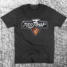 Ingrosso Nuova t-shirt con logo motocicletta quattro C di Racer Vintage Café CB750 2018