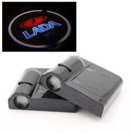Car Lights Australia - Wireless Car Led Lada Door Lights Car door light logo projector Welcome Projector Shadow car door light
