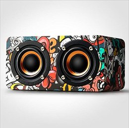 $enCountryForm.capitalKeyWord Australia - Wireless Bluetooth Speaker with 2 HD Full Frequency Speakers HIFI Sound 2000mAh 8h of Playing Graffiti Art for Enabled Bluetooth Devices