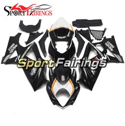 Chinese  Complete White Black Pattern Fairings For Suzuki GSXR1000 GSX-R1000 K7 07 08 2007 2008 Sportbike ABS Motorcycle Injection Bodywork manufacturers