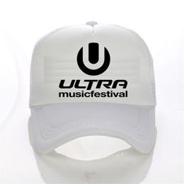 f05390253b9 Ultra Music Festival Band baseball cap snapback hat women Casual men  hip-hop cap summer fashion Truck Mesh cap