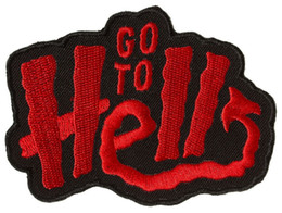 $enCountryForm.capitalKeyWord Australia - Sourpuss Go to Hell Patch Motorcycle Applique Badge Embroidery Patch Biker Punk Parch on Clothing for Jacket Backpack