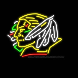 "$enCountryForm.capitalKeyWord Canada - North Dakota Fighting Sioux Hockey Neon Sign Handmade Real Glass Tuble Beer Bar KTV Motel Club Pub Display Advertising Neon Signs 24""x24"""