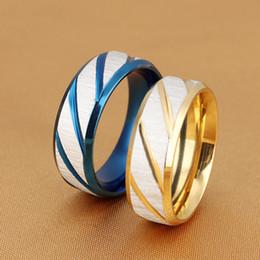 TiTanium TungsTen carbide online shopping - New style Tungsten Carbide Wedding Ring Band for Men Women Gold Blue Comfort Fit Size