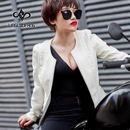 $enCountryForm.capitalKeyWord Canada - 2018 Spring Autumn New Women Black Washed PU leather Coat Motorcycle Jacket Female White Faux Leather Short Jackets S-XXXXL