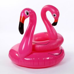 Wholesale Pool Toys Sale Australia - 90cm summer children Flamingo swimming rings floating swim pool toy swimming mattress INS hot sale water Floats inflatable swan