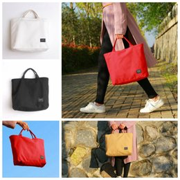 Solid colorS tote bagS online shopping - Women Solid Zipper Canvas Handbag Shoulder Bags Beach Tote Laptop Packs Shopping Handbags Colors OOA4945