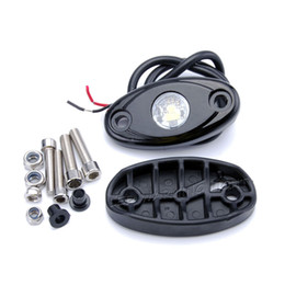 Chinese  LED rock light for off road wrangler SUV 4X4 motorcycle car boat watercraft snowmobile helicopter golf cart safety warning lamp manufacturers