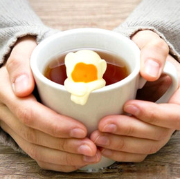 Trasporto di goccia del colino del tè del tè di rilevazione della temperatura del silicone sveglio di scimmia in Offerta