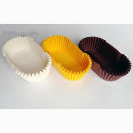 Muffin Cupcakes paper cases 7-9cm oval bread wrapper liners release oil paper party pastry baking mat tools cups molds Random Color
