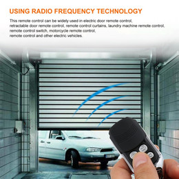 Wireless Door Key Australia - 5 Universal Wireless Remote Control Key 4 Channel 433MHz Electric Garage Door Security Alarm System Keychain Controller Car Keys