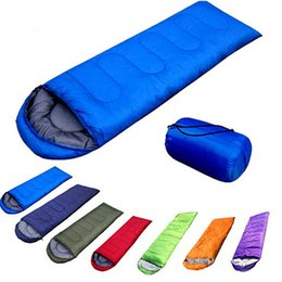 Outdoor Camping Ultra Light Envelope Single Warm Sleeping Bag With Storage Summer Down On Sale